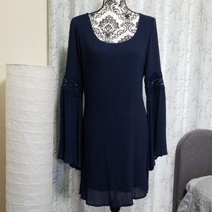 D-O-U-B-L-E  Z-E-R-O Navy Blue Dress